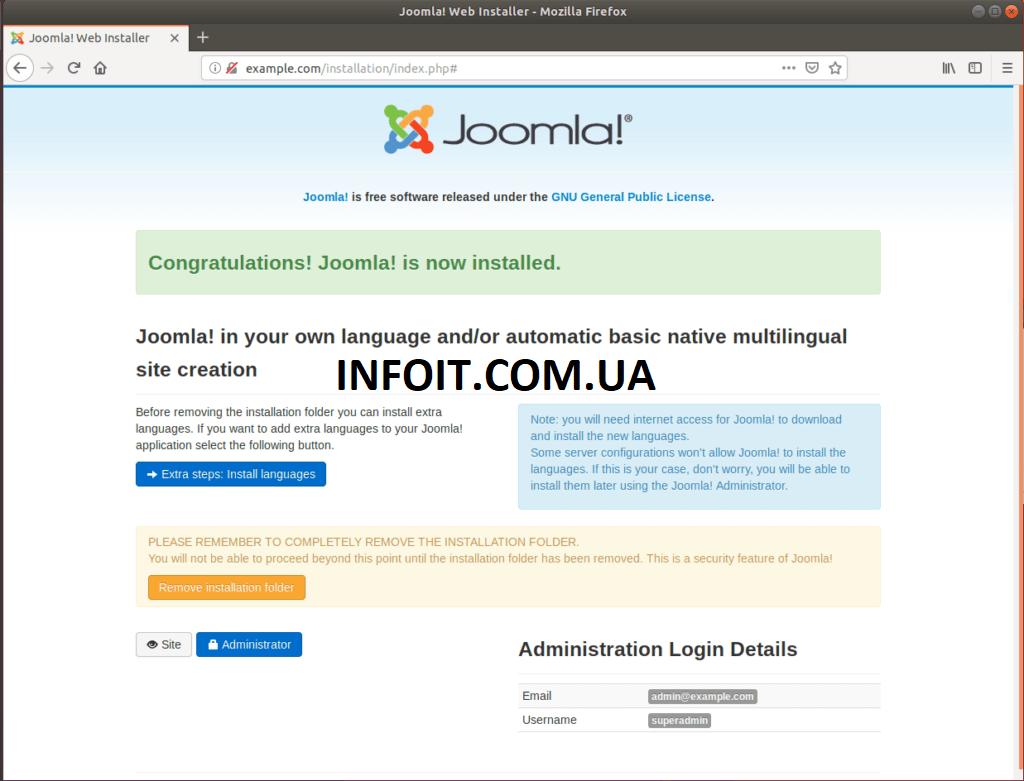 Как установить Joomla на Ubuntu 20.04 LTS