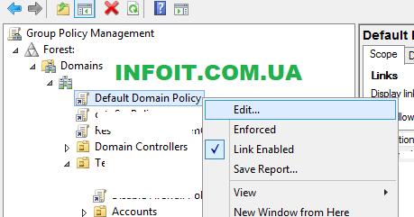 Политика паролей учетных записей в Active Directory