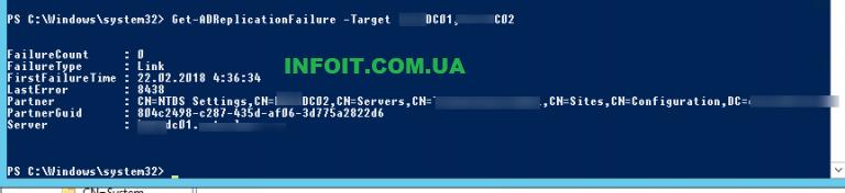 Мониторинг репликации Active Directory с помощью PowerShell