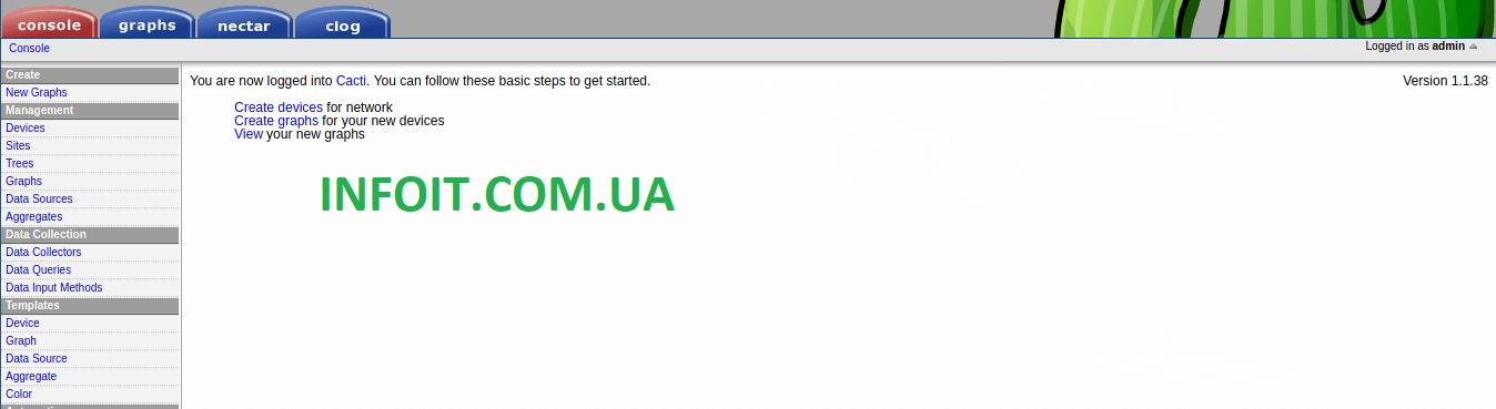 Как установить и настроить Cacti в Ubuntu 18.04