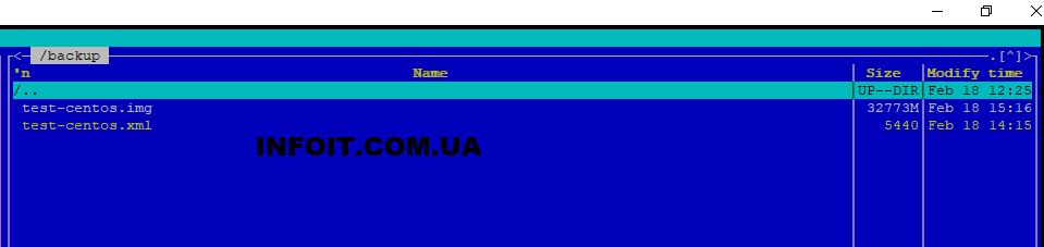 Резервное копирование виртуальных машин в KVM
