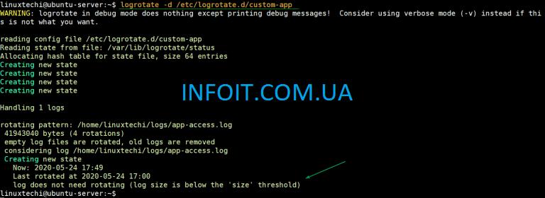 Как сжимать файлы журналов в Linux с помощью Logrotate