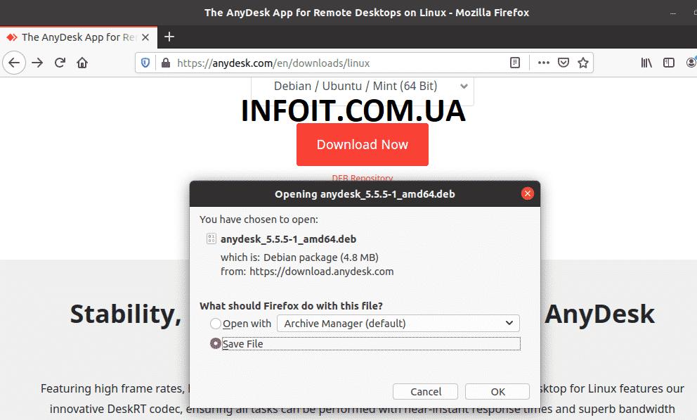 Как установить AnyDesk на Ubuntu 20.04 | 18.04